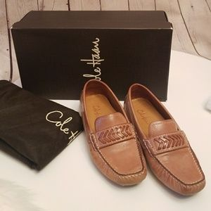Cole Hann Bethany Camel Leather Moccasins